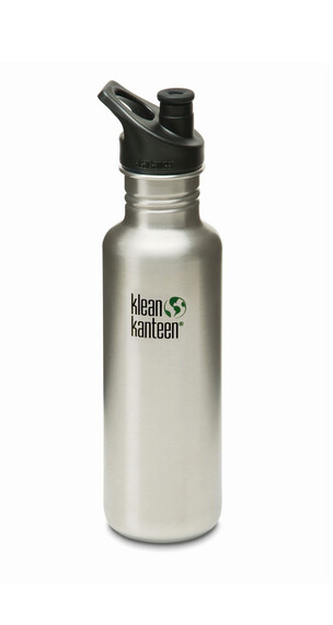 Klean Kanteen Classic Trinkflasche mit Sport Cap 800ml brushed stainless